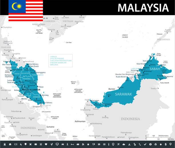 10 - malaysia - murena 10 - kuching stock-grafiken, -clipart, -cartoons und -symbole