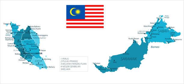 31 - malaysia - murena ort isoliert 10 - kuching stock-grafiken, -clipart, -cartoons und -symbole