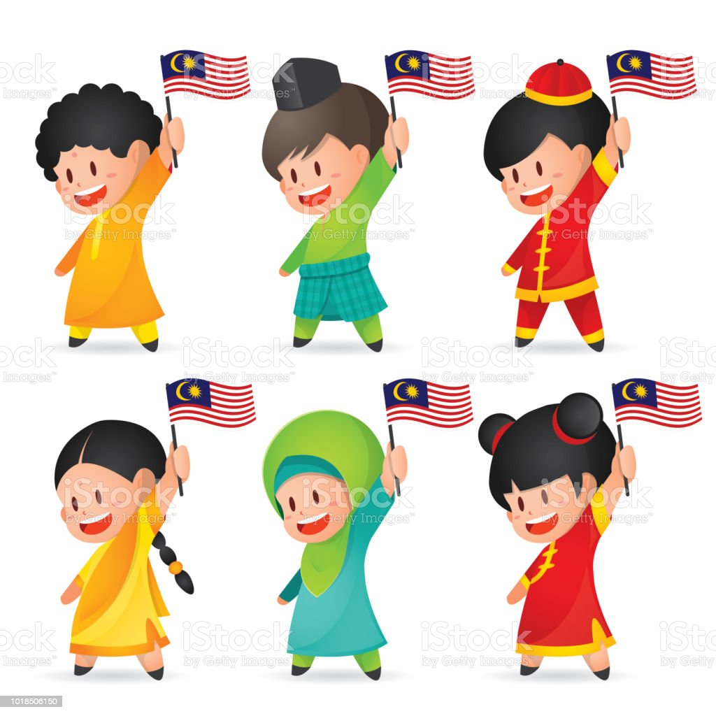 Malaysia National Independence Day Illustration Cute Cartoon - Toddler-cartoon-characters