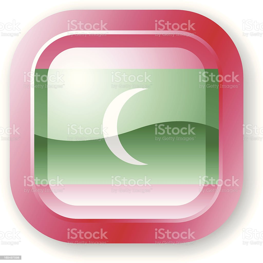 Maldives Flag Icon royalty-free stock vector art