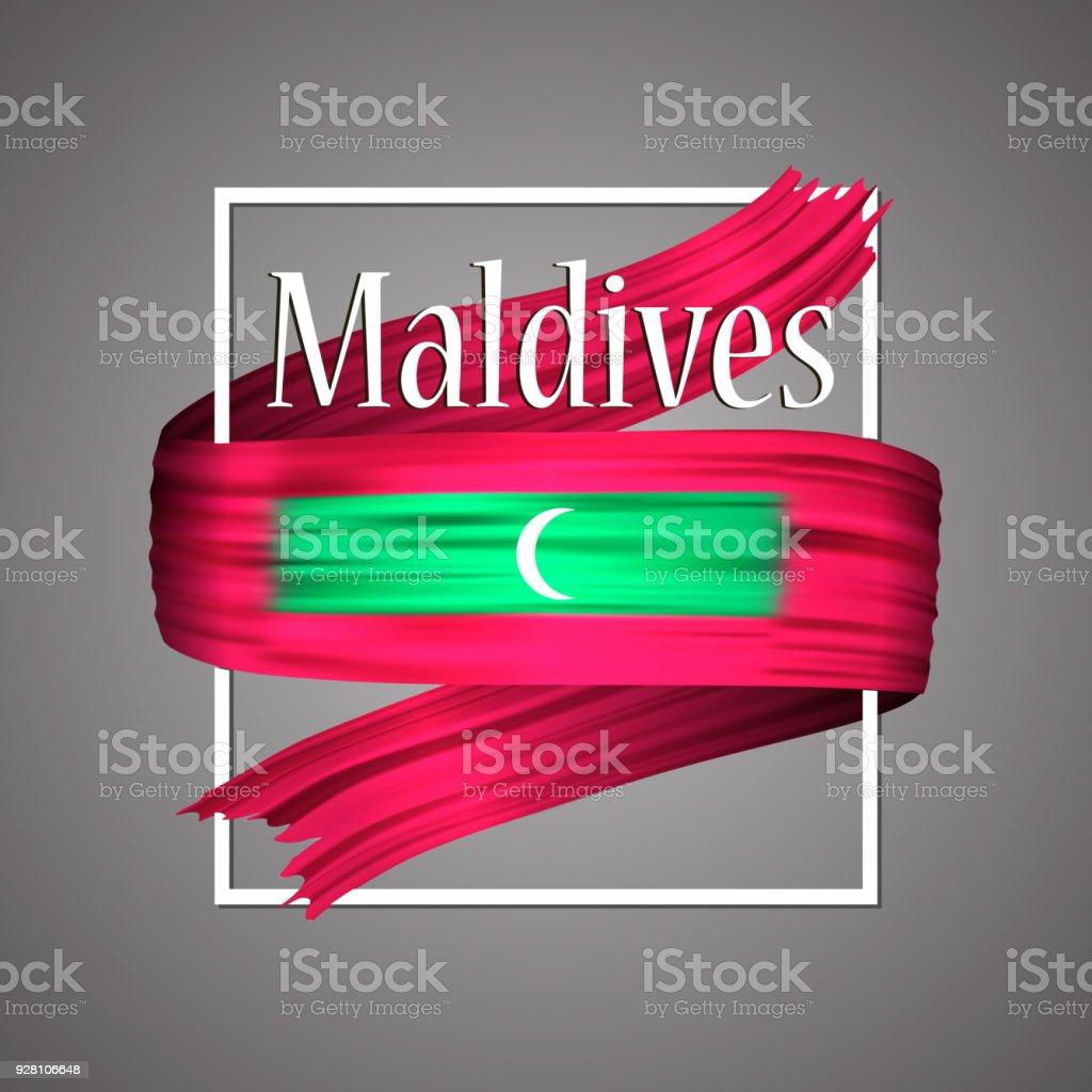 Flagge Der Malediven Offiziellen Nationalfarben Malediven 3d ...