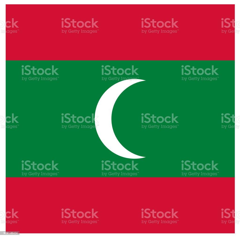 モルディブの旗 - アイランド郡...