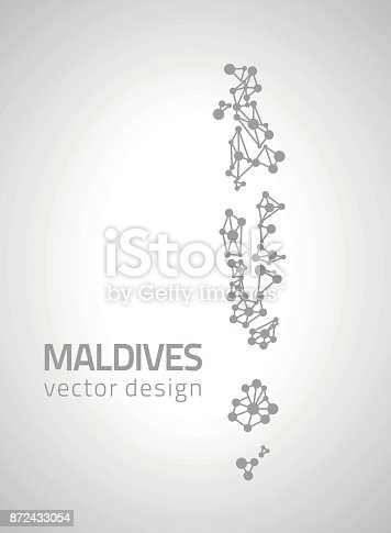 Maldives Vector Dot Grey Outline Triangle Perspective Modern Map Stock Art More Images Of Abstract 872433054