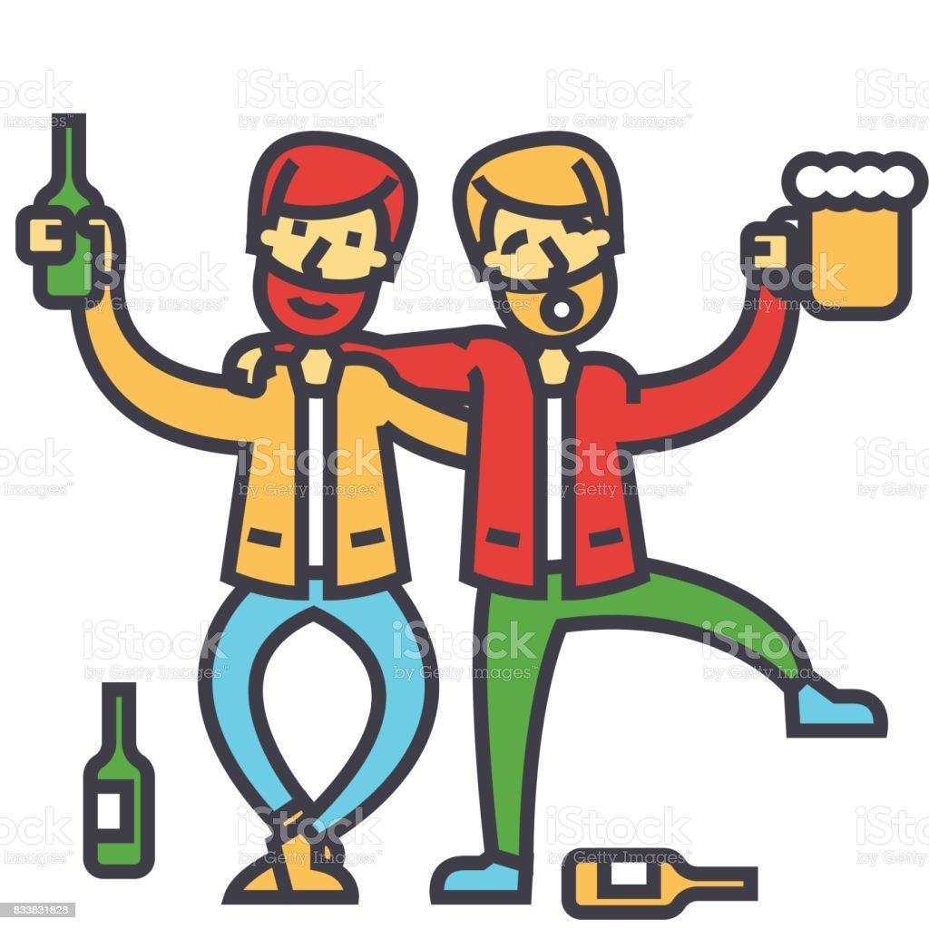 男性アルコール依存症酔っ払い飲...