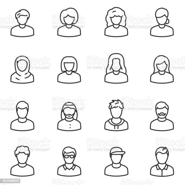 Male and female avatars icon set peoples line with editable stroke vector id942368632?b=1&k=6&m=942368632&s=612x612&h=4cpvzjpfyk3hsekiuwsvpwttms8vcjey3tnvu nsk m=