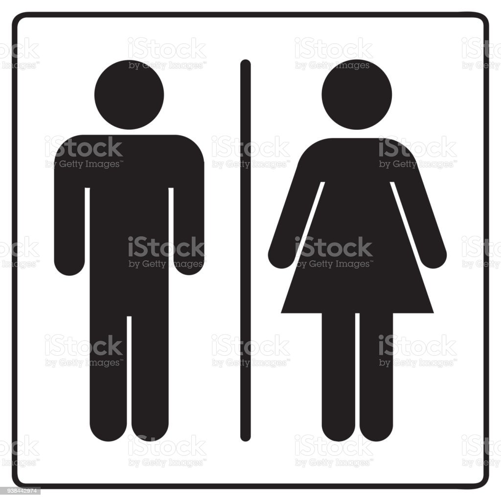 computer male female support and sign royalty free art tech vector stock bathroom