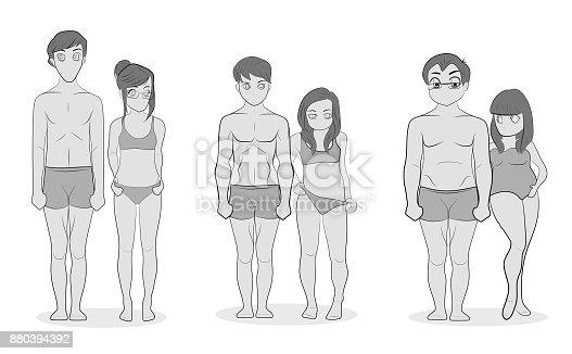 naked thin girl body