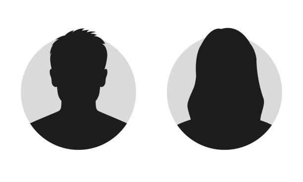 男性和女性的臉輪廓或圖示。男人和女人頭像個人資料。未知或匿名的人。向量例證。 - 女性 幅插畫檔、美工圖案、卡通及圖標