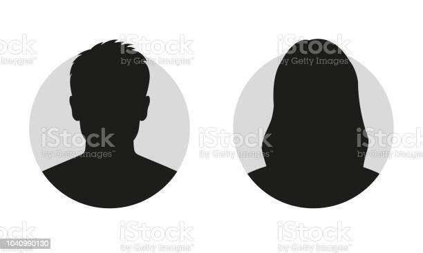 Männliche Und Weibliche Gesicht Silhouette Oder Symbol Mann Und Frau Avatarprofil Unbekannte Oder Anonyme Person Vektorillustration Stock Vektor Art und mehr Bilder von Avatar