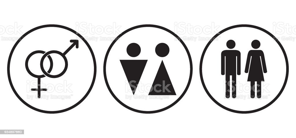 Male And Female Gender Symbols Icons Stock Vector Art More Images