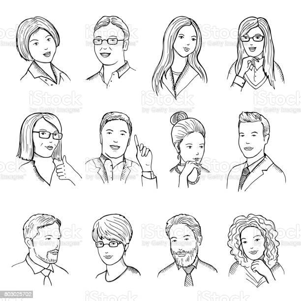 Male and female hand drawn illustrations for pictograms or web vector id803025702?b=1&k=6&m=803025702&s=612x612&h=3lccpfoztair78aaexgng70vthxdg7lk1vobc  2b9a=