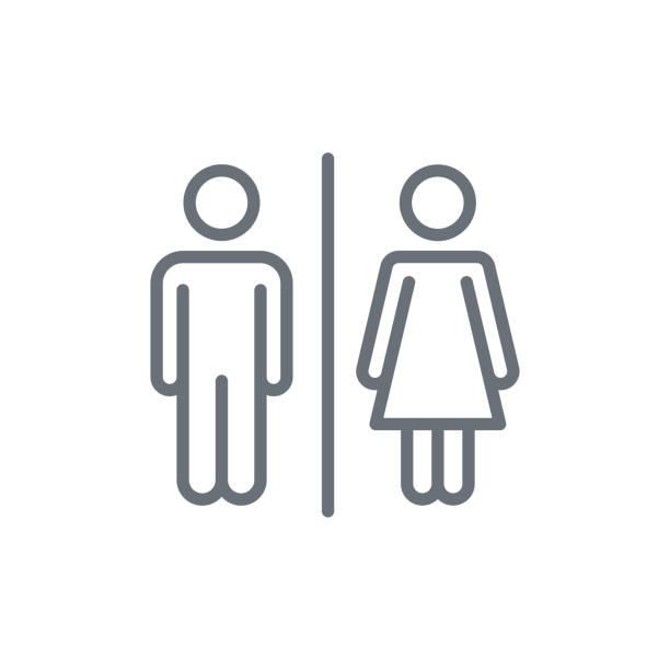 illustrations, cliparts, dessins animés et icônes de icône mâle et femelle - époux