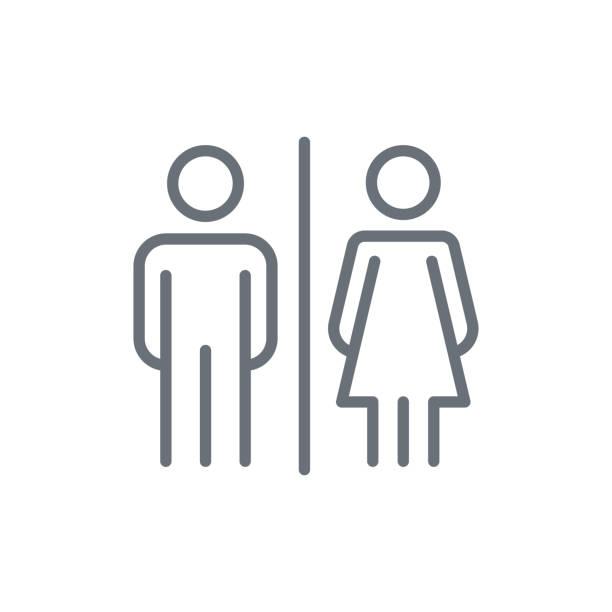männliche und weibliche symbol - badezimmer stock-grafiken, -clipart, -cartoons und -symbole