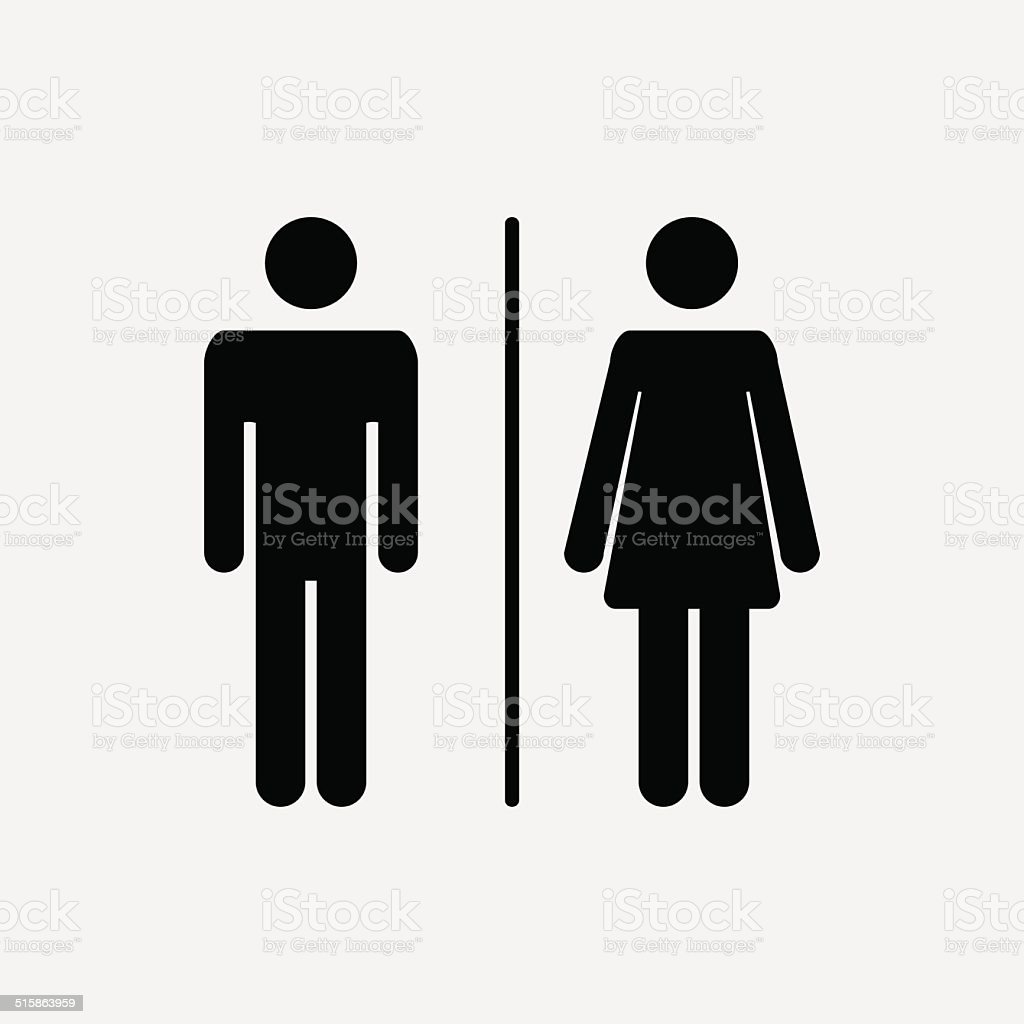 Male female bathroom sign images - Male And Female Icon Royalty Free Stock Vector Art