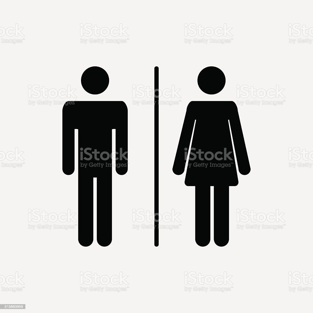 Ícone masculinos e femininos - ilustração de arte em vetor