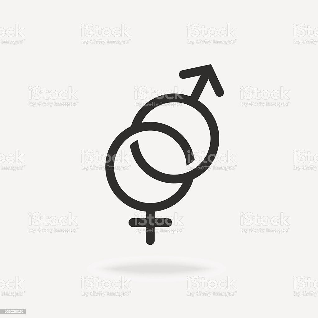 Männliche Und Weibliche Symbol Stock Vektor Art und mehr Bilder von ...