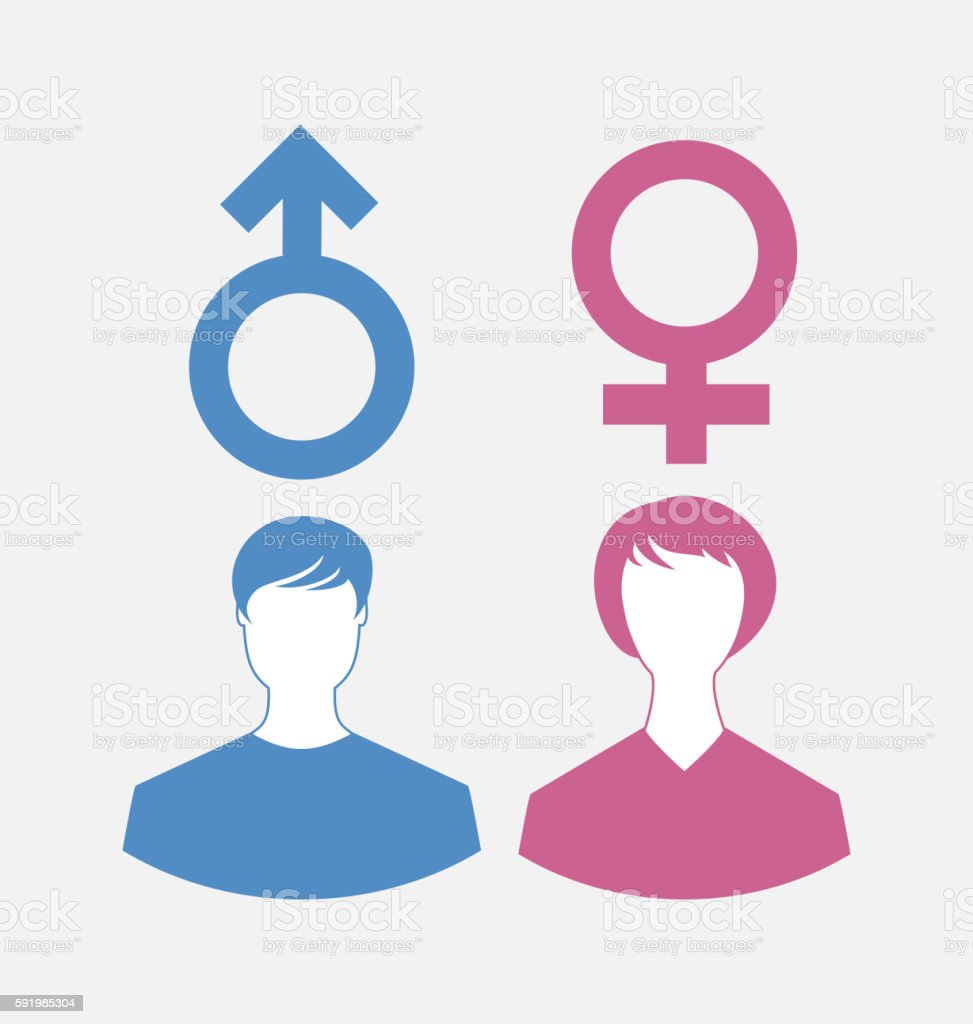 Male And Female Icons Gender Symbols Stock Vector Art More Images