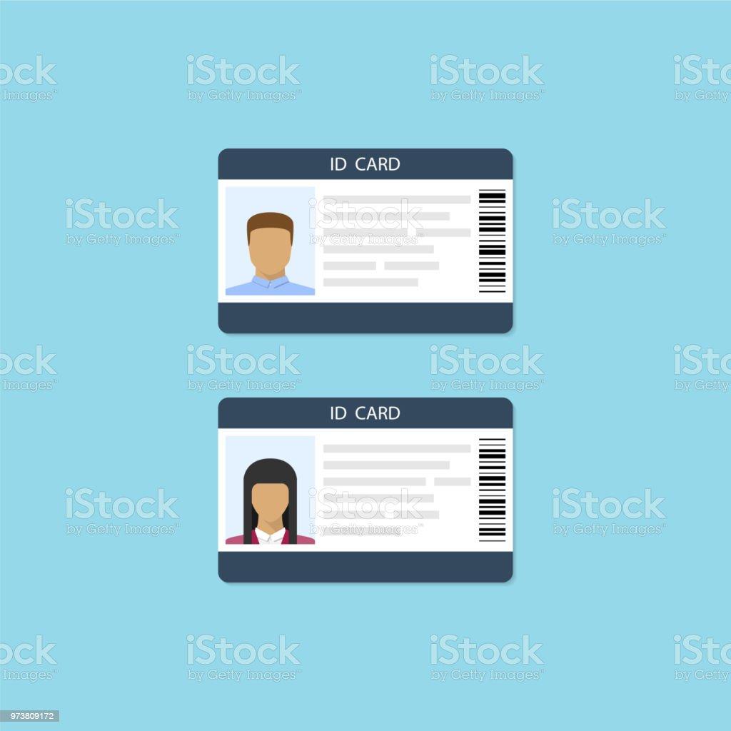 Iconos de la identidad masculina y femenina. Ilustración de vector de estilo plano - ilustración de arte vectorial