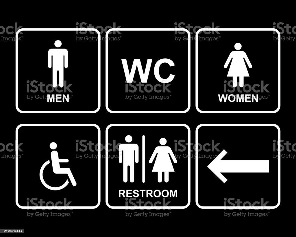 Maschio E Femmina Simbolo Icone Di Toilette Pubblica Con Uomo