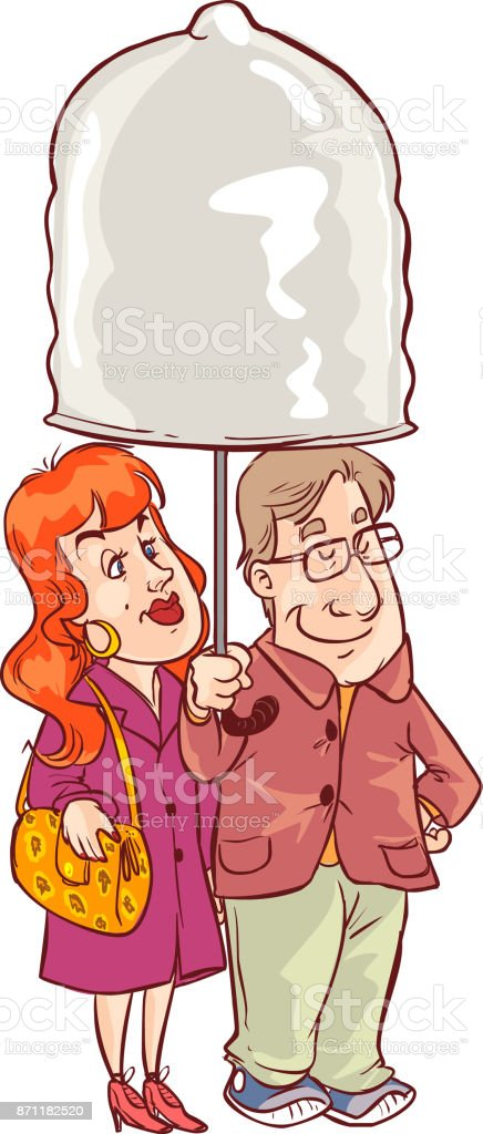 male and female. Sex. Love. Condom vector illustration. vector art illustration