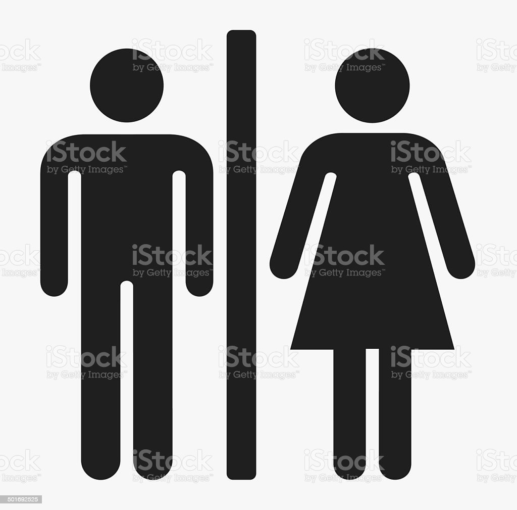 Male and female sign vector art illustration