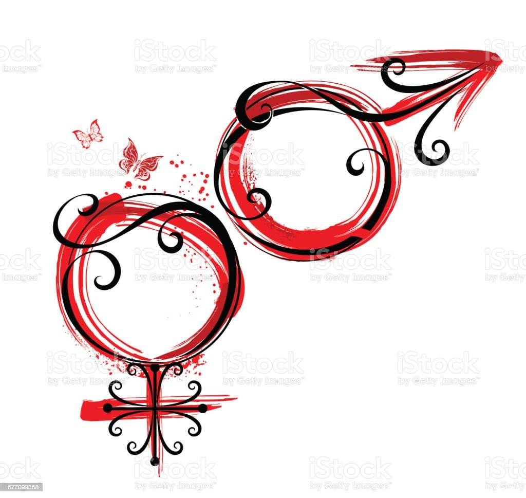 Male And Female Symbol Stock Vector Art More Images Of Arrow