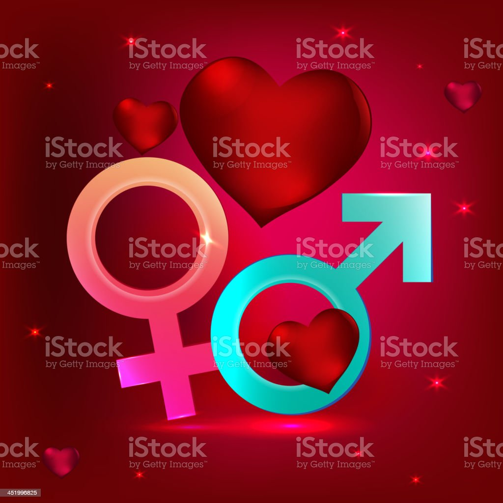 male and female symbols royalty-free stock vector art