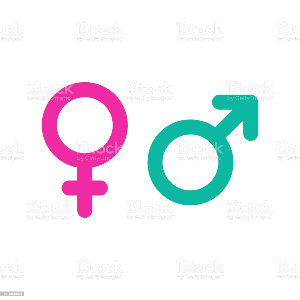 Male And Female Symbols Stock Vector Art More Images Of Abstract