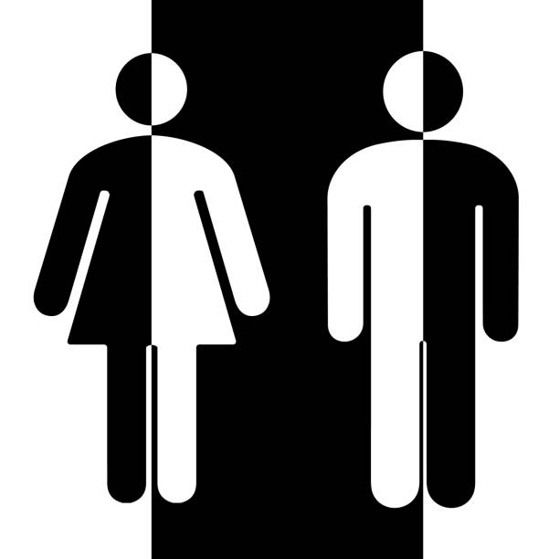 boy and girl bathroom signs background clip art vector images illustrations - Girl Bathroom Sign