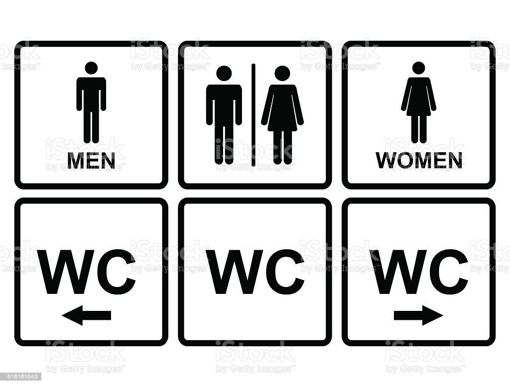 Banheiro masculino e feminino cone demonstrativo de for Que significa wc