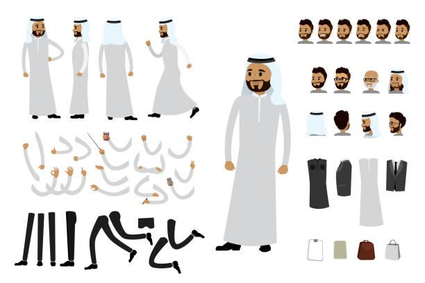 male arab businessman constructor, - arab stock illustrations