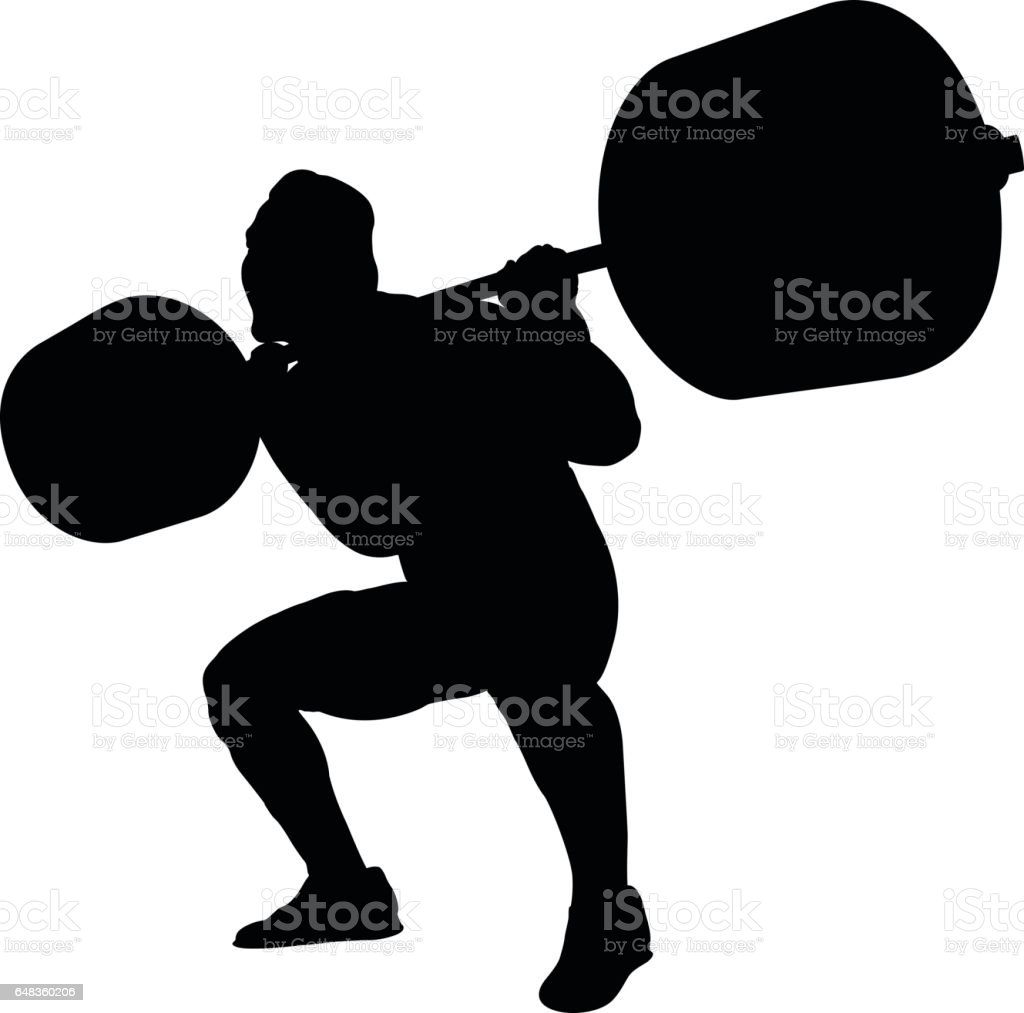 royalty free powerlifting clip art vector images illustrations rh istockphoto com powerlifting vector clipart Powerlifting Vector