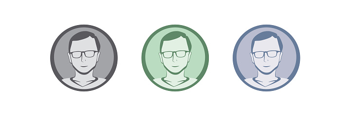 Male avatar profile badge icon