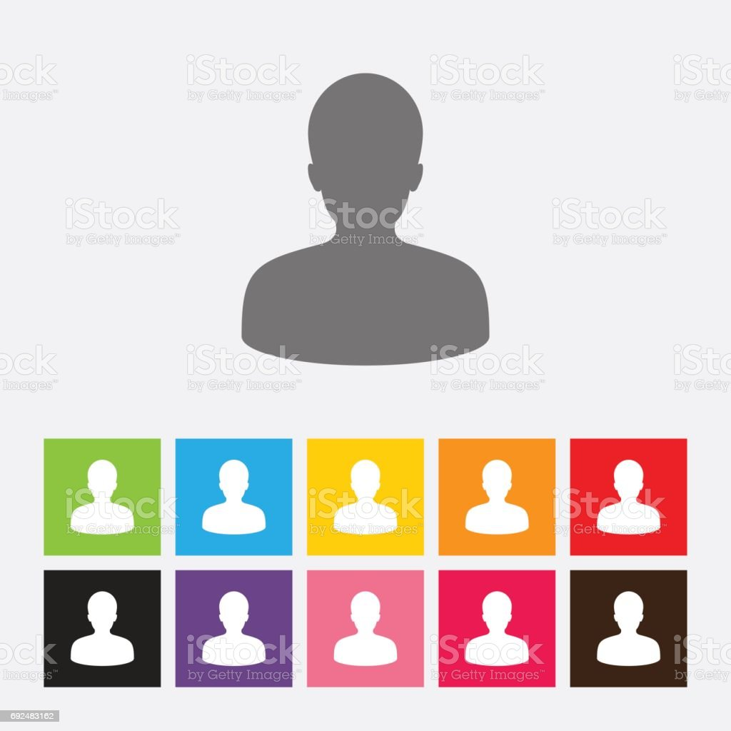 Icono de imagen de perfil masculino avatar ilustración de icono de imagen de perfil masculino avatar y más vectores libres de derechos de adulto libre de derechos