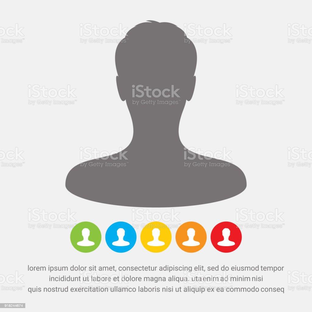 Male avatar profile picture icon vector art illustration