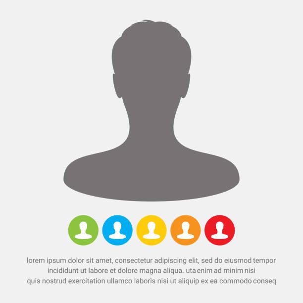 Male avatar profile picture icon Male avatar profile picture icon unrecognizable person stock illustrations