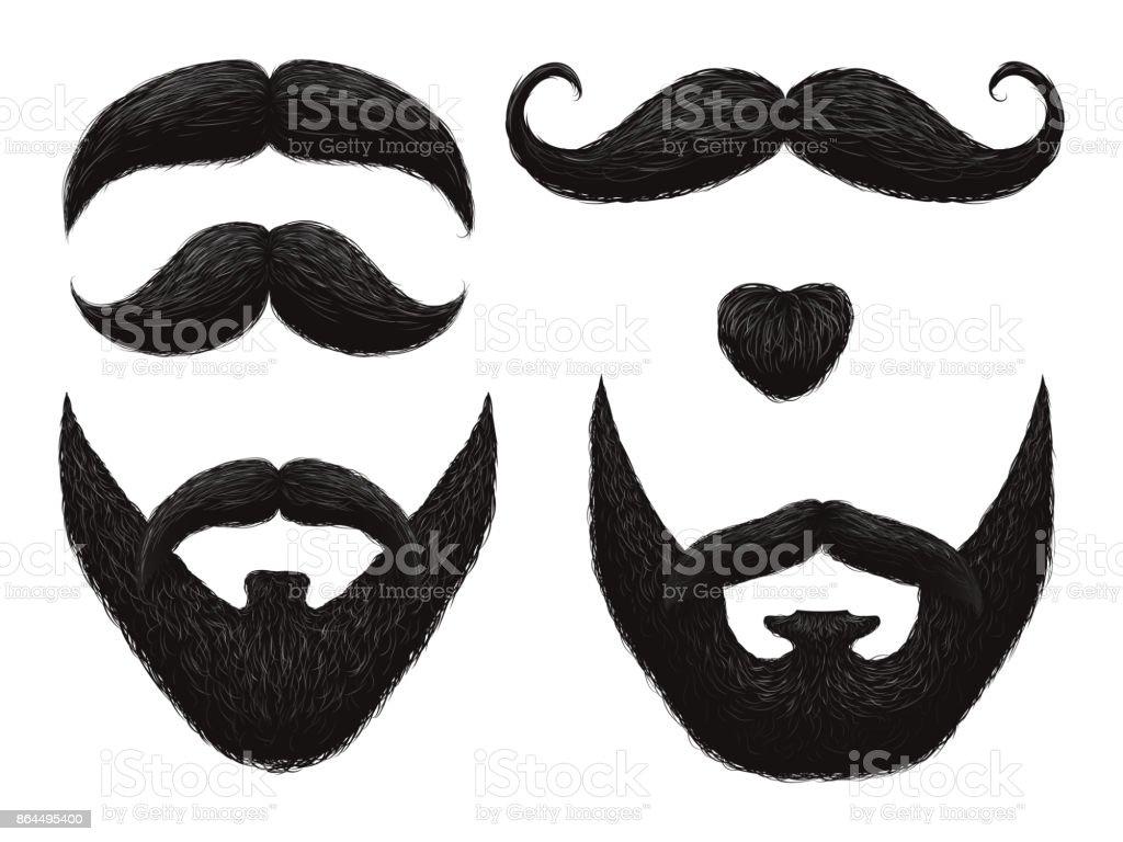 Männlichen Bart Und Schnurrbart Barbershop Vorlagen Stock Vektor Art ...