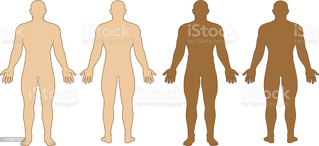 Male Body Outline Royalty Free Stock Vector Art Amp More Images