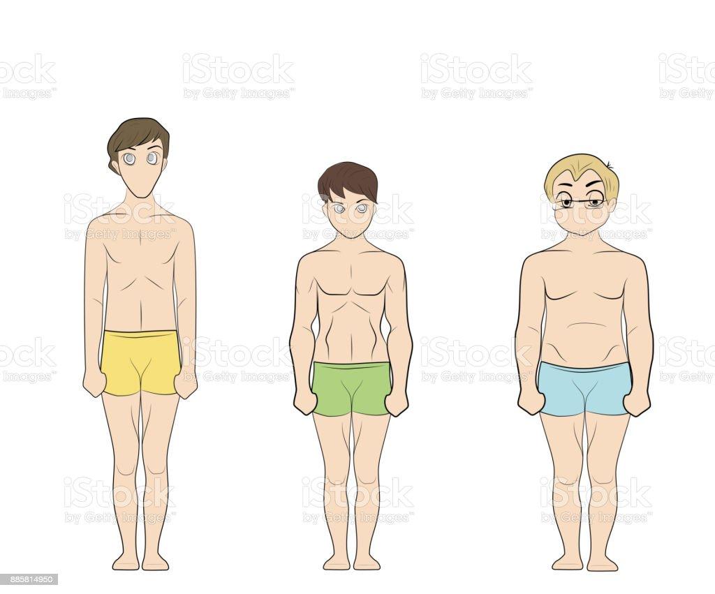 「体格の違い フリー素材」の画像検索結果