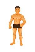 Male bodybuilder