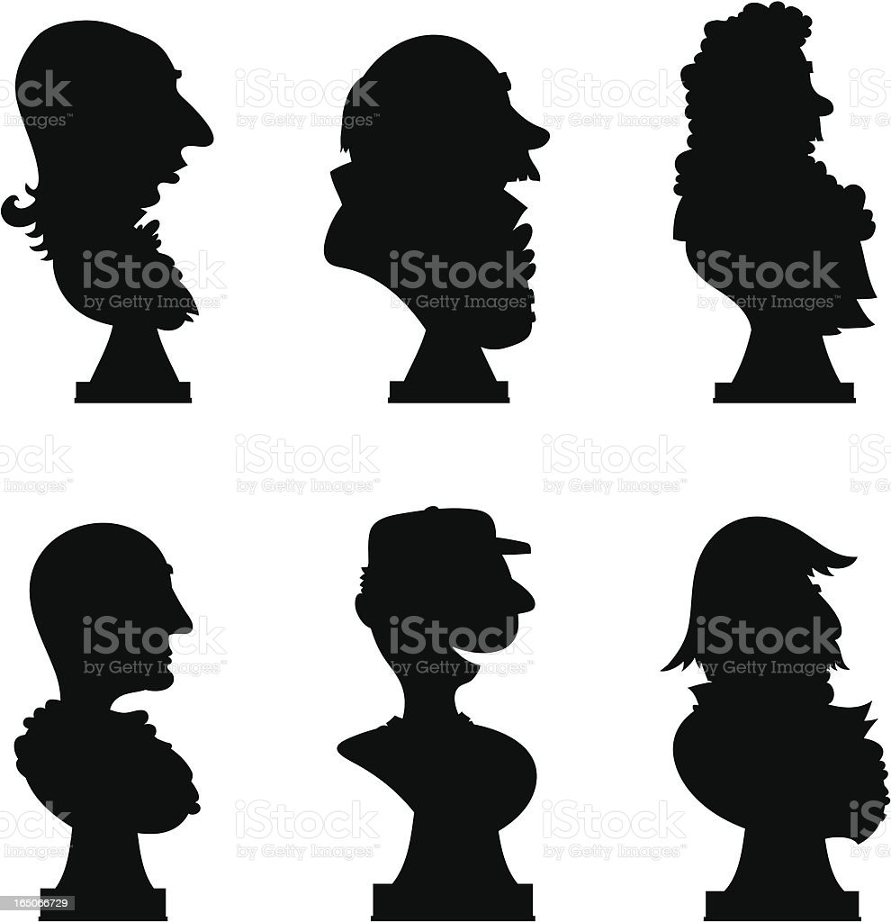 Male Busts royalty-free stock vector art