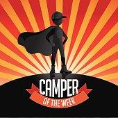 Male Camper of the week burst EPS 10 vector