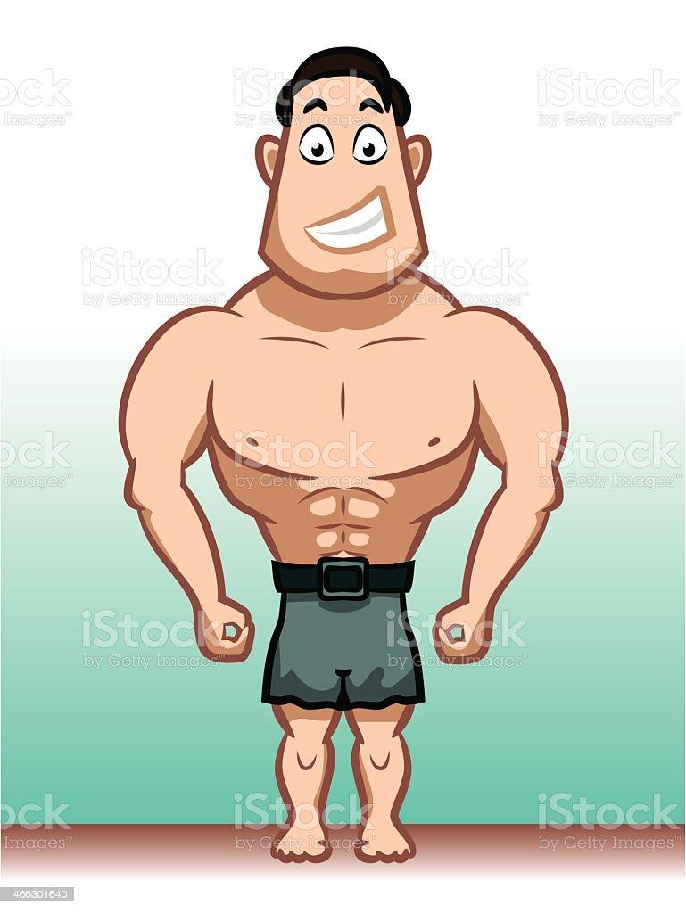 Male character vector art illustration
