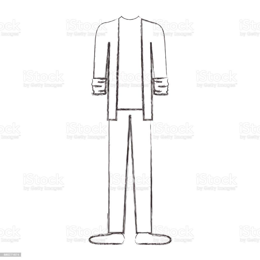 Männerkleidung Mit Sportjacke Und Hose Und Schuhe In