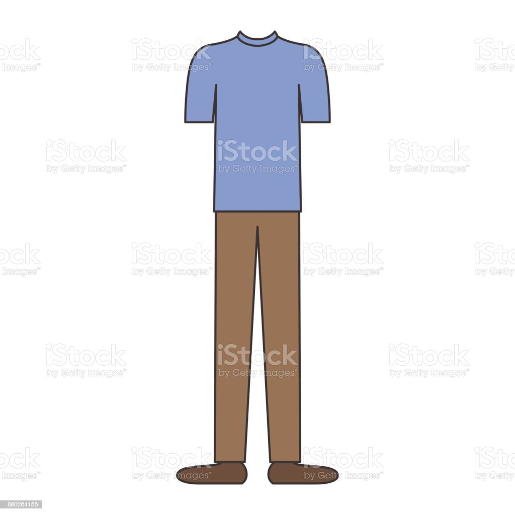 Männerkleidung Mit Tshirt Und Braune Hose Und Schuhe In Der