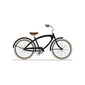 istock Male cruiser bike flat isolated icon on white background. 1214335322