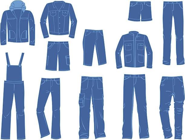 15c2c8d74639 Male denim clothing vector art illustration