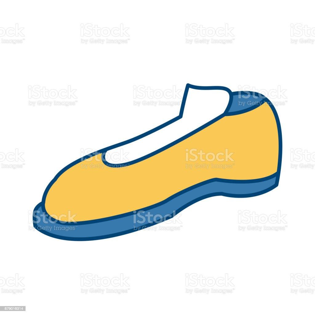 Male elegant shoe vector art illustration