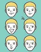 Male Characters Vector art illustration.