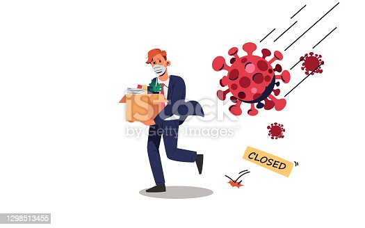 istock Male employees were laid off from their jobs. 1298513455